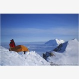 West Buttress Camp Stock Image, Denali National Park, Alaska
