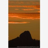 Pilot Rock Sunrise II Stock Image, Ashland, Oregon