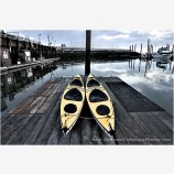 Docked Kayaks Stock Image, Coquille River, Oregon
