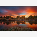 Autumn Sunrise Print, Bend Oregon