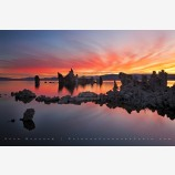 Dawn Fire at Mono Lake Print, Mono Lake, California
