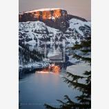 Last Sun On Lao Rock Print, Crater Lake, Oregon
