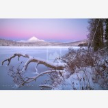 Mt. McLoughlin and Lake Of The Woods at Dawn Print, Ashland, Oregon