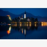 Fairytail Nightfall, Lake Bled, Slovenia