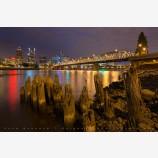 Riverfront Night, Portland, Oregon