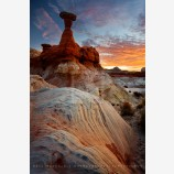 Rim Rock Sunrise Print, Grand Staircase-Escalante, Utah