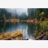 Rite Of Autumn Print, Hidden Lake, Washington