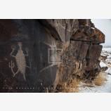 Snowy Petroglyph, Petroglyph Lake, Oregon
