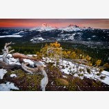 Touch of Light Print, Cascade Range, Oregon