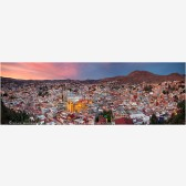 Guanajuato Sunset Panorama Stock Image, Mexico