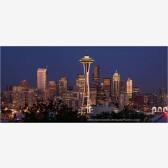 Seattle Skyline Panorama Stock Image, Seattle, Washington