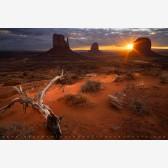 Darkness Bleeds Daylight Print, Monument Valley, Arizona