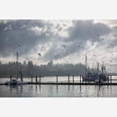 Dock of the Bay Print, Charleston, Oregon