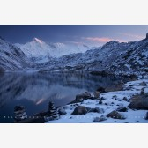 Early Light On Cho Oyu And The Third Gokyo Lake II Print, Dudh Pokhari, Nepal