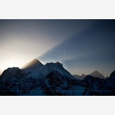 Sunrise Behind Mt. Everest Print, Gokyo Ri, Nepal