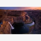 Twilight Falls Print, Palouse River Canyon, Eastern Washington