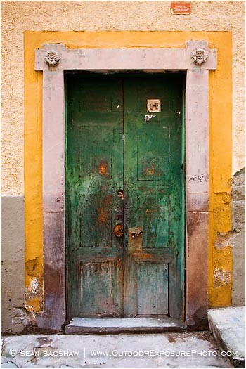 Green Door Stock Image Guanajuato Mexico & Door Stock Images - Architecture Stock Images - Stock Photography