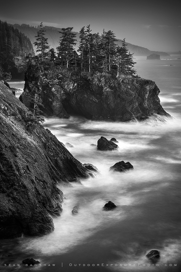 Lonely Coast. Late twilight on cliffs edge somewhere on the southern Oregon coast.