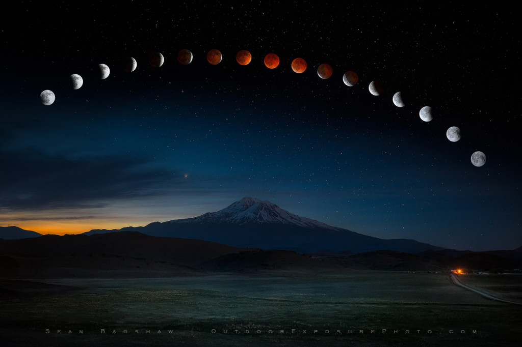 Eclipse Over Mt. Shasta Revisited, Shasta Valley, California