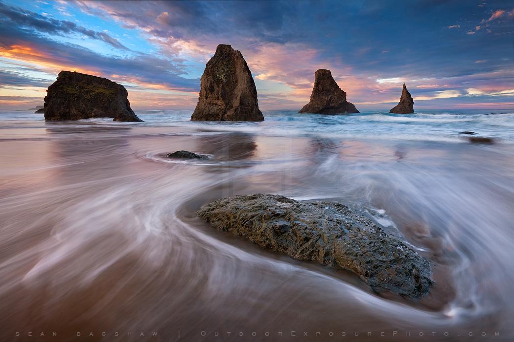 Pastel Sea Print, Bandon, Oregon-0