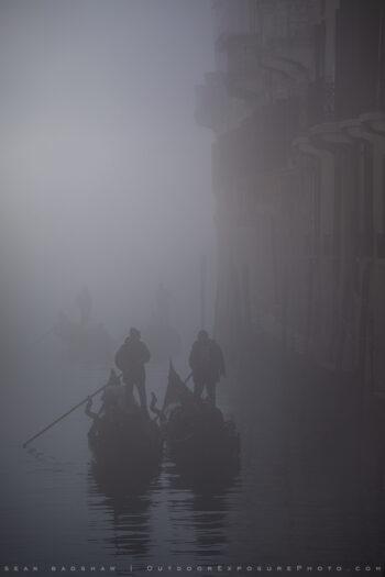 Gondoliers In Fog