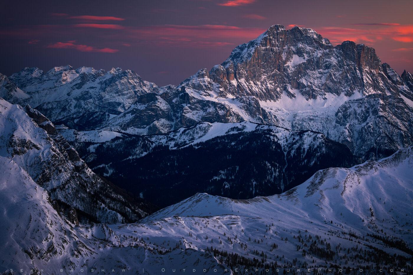 high altitude dolomite twilight