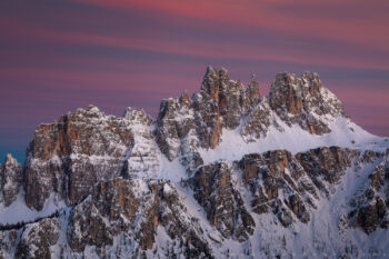 pastel light on croda da lago